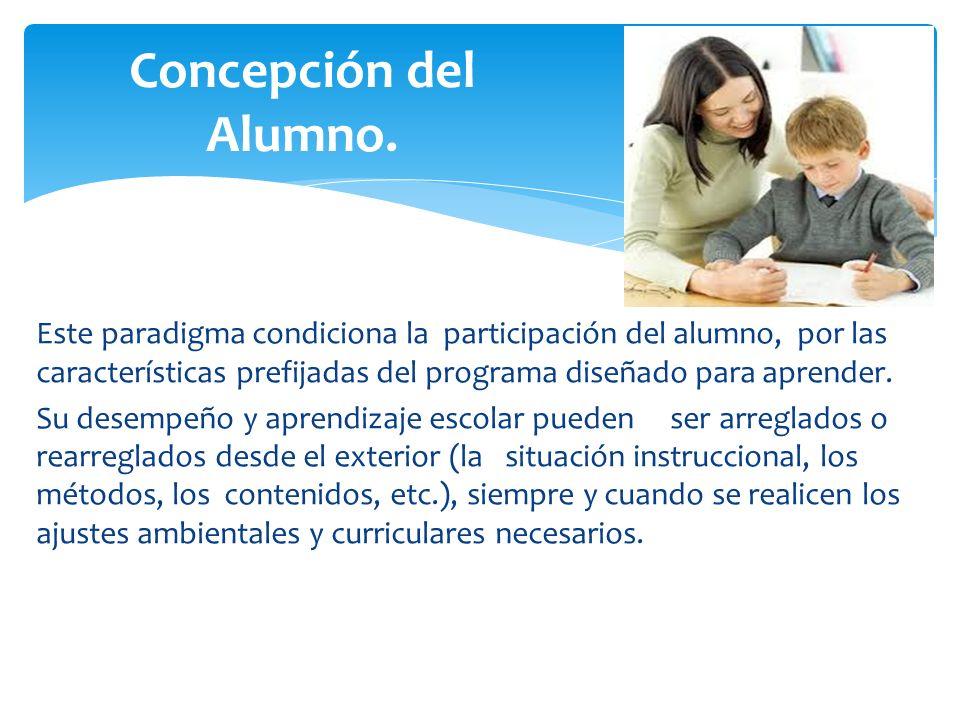 Concepción del Alumno.