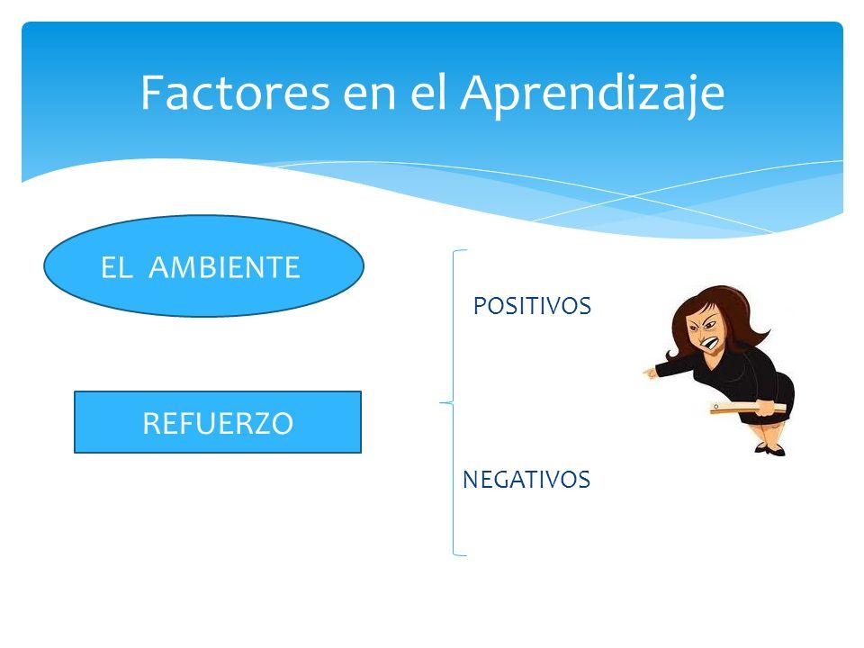 Factores en el Aprendizaje