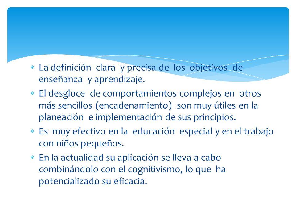 La definición clara y precisa de los objetivos de enseñanza y aprendizaje.