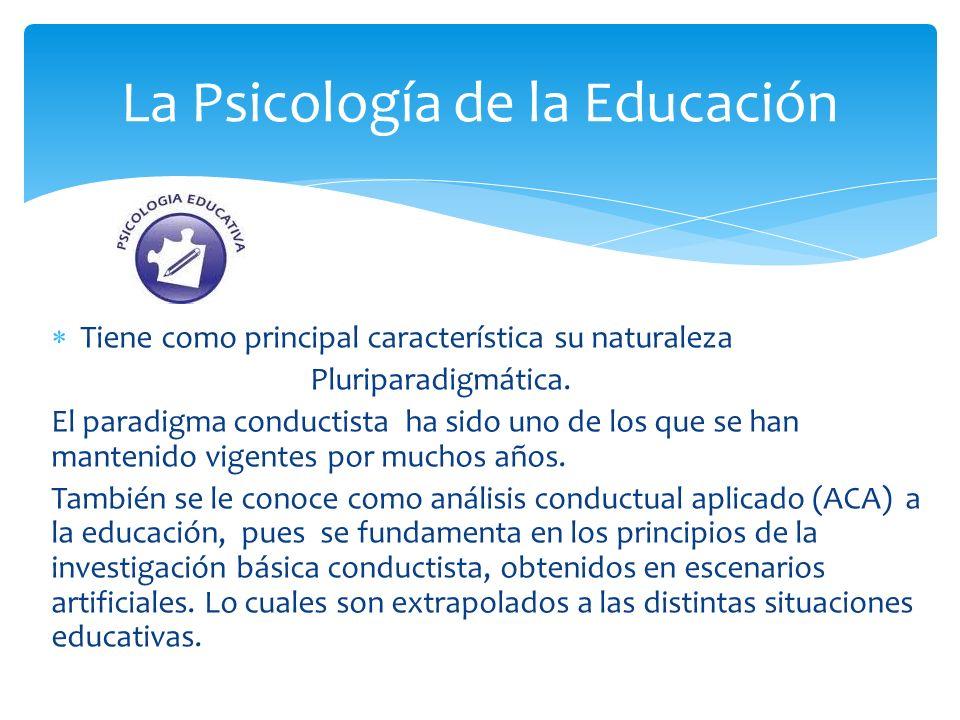 La Psicología de la Educación