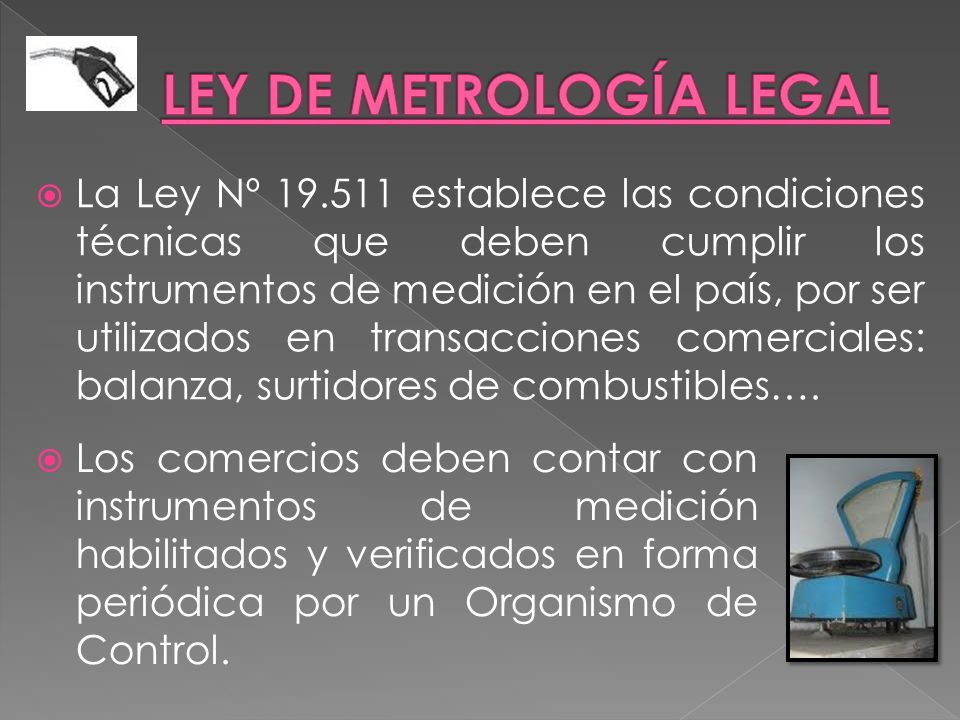 LEY DE METROLOGÍA LEGAL