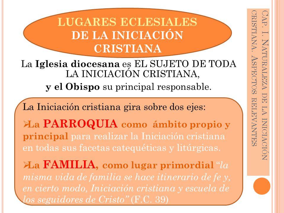 Cap. I. Naturaleza de la iniciación cristiana. Aspectos relevantes