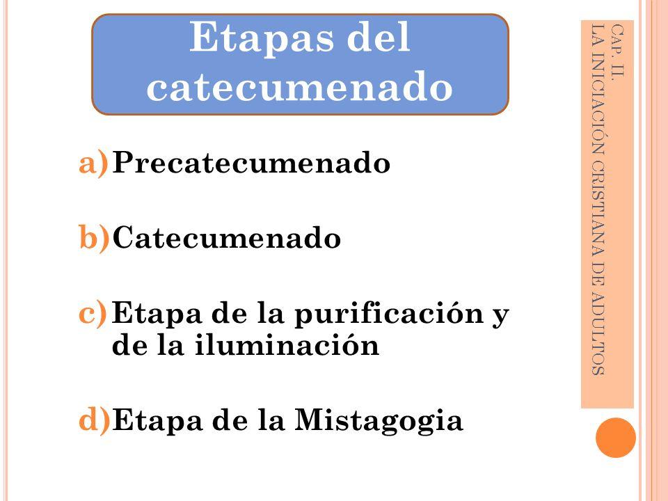 Cap. II. LA INICIACIÓN CRISTIANA DE ADULTOS