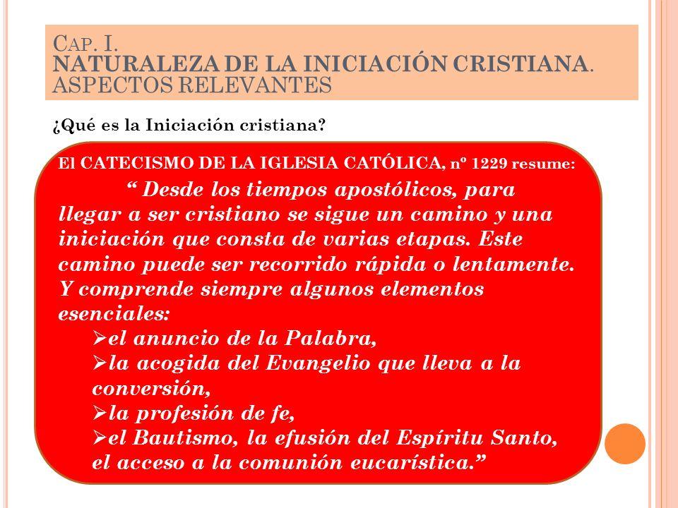 NATURALEZA DE LA INICIACIÓN CRISTIANA. ASPECTOS RELEVANTES