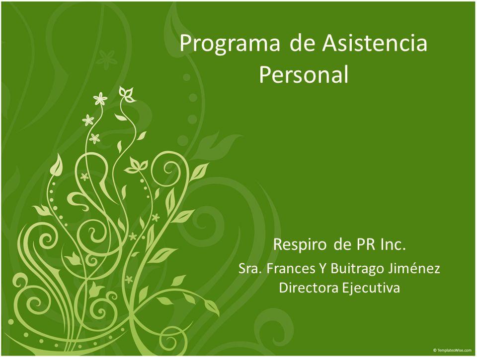Programa de Asistencia Personal