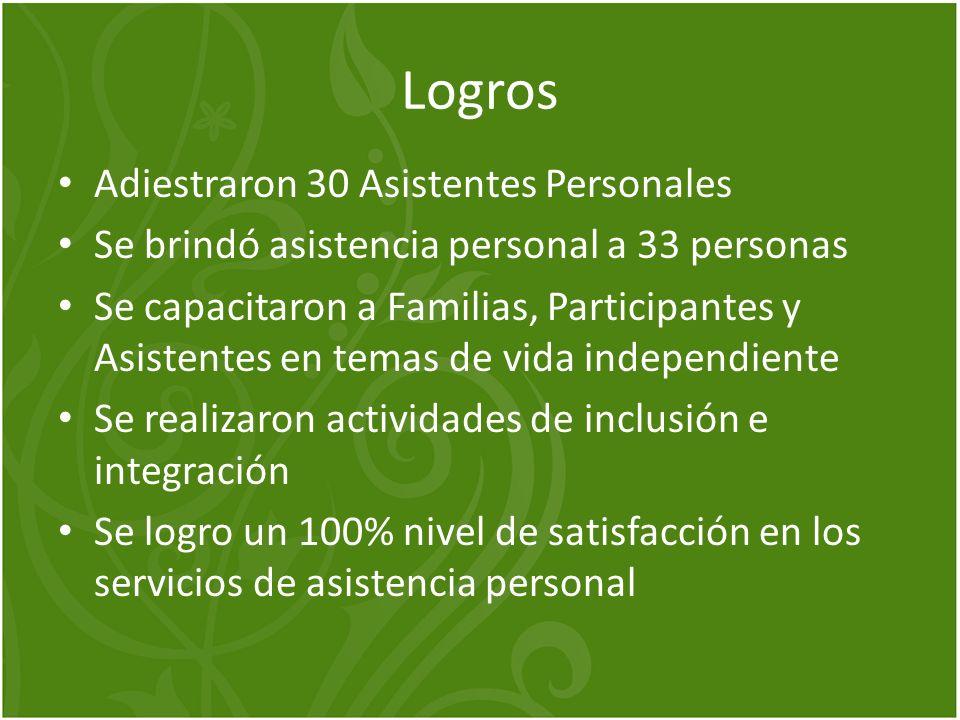 Logros Adiestraron 30 Asistentes Personales