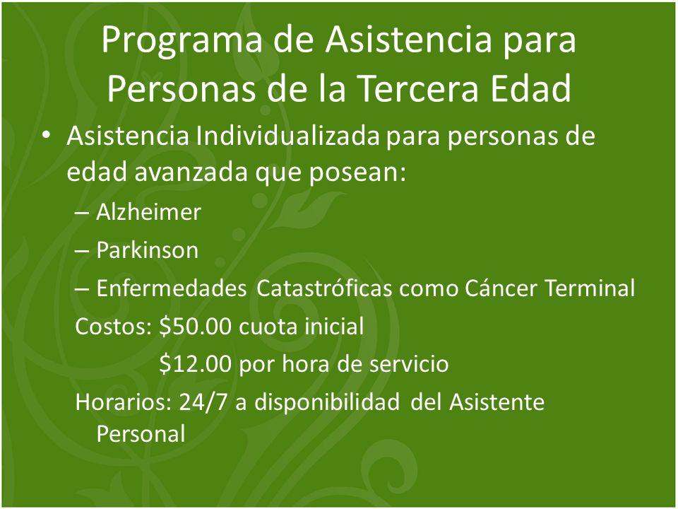Programa de Asistencia para Personas de la Tercera Edad