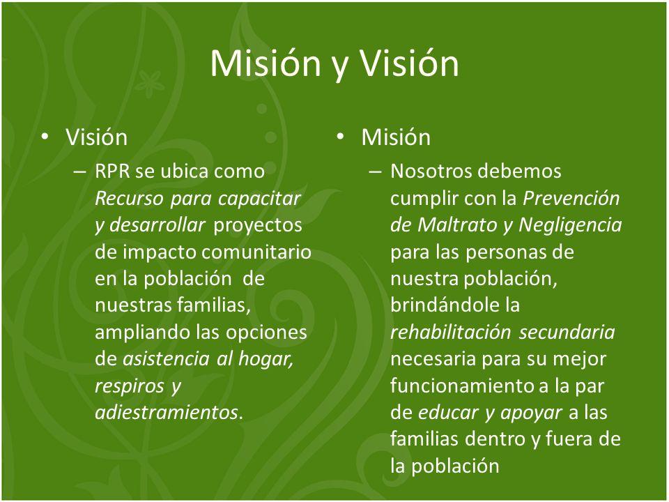 Misión y Visión Visión Misión