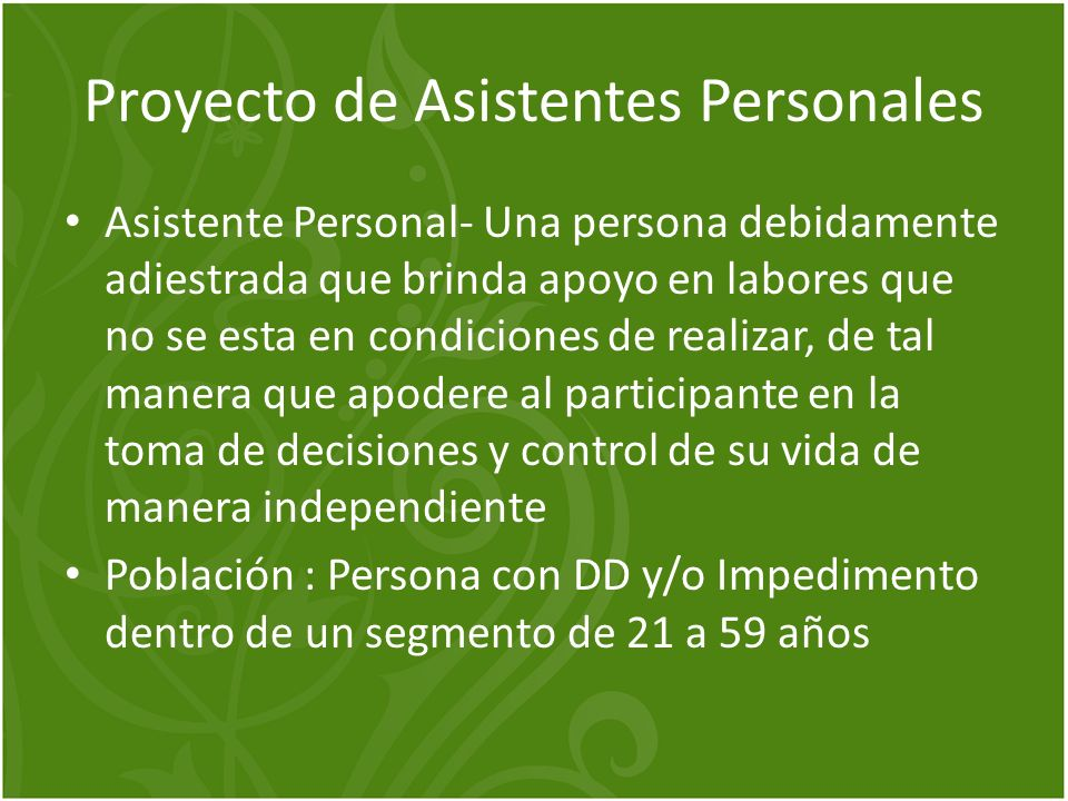 Proyecto de Asistentes Personales