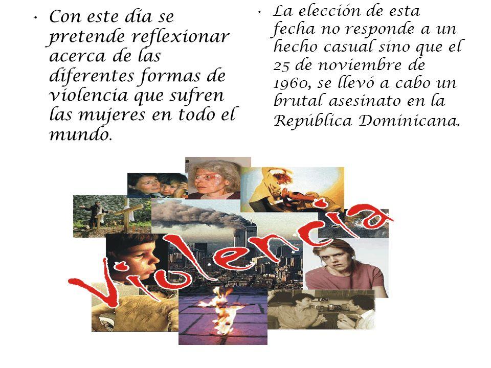 La elección de esta fecha no responde a un hecho casual sino que el 25 de noviembre de 1960, se llevó a cabo un brutal asesinato en la República Dominicana.