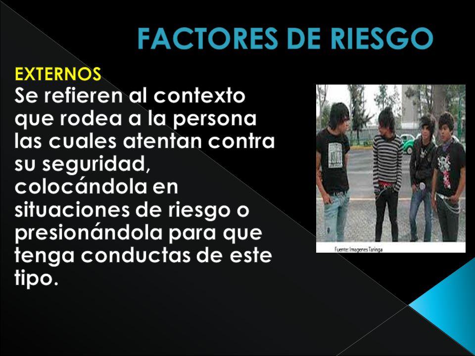 FACTORES DE RIESGO EXTERNOS.