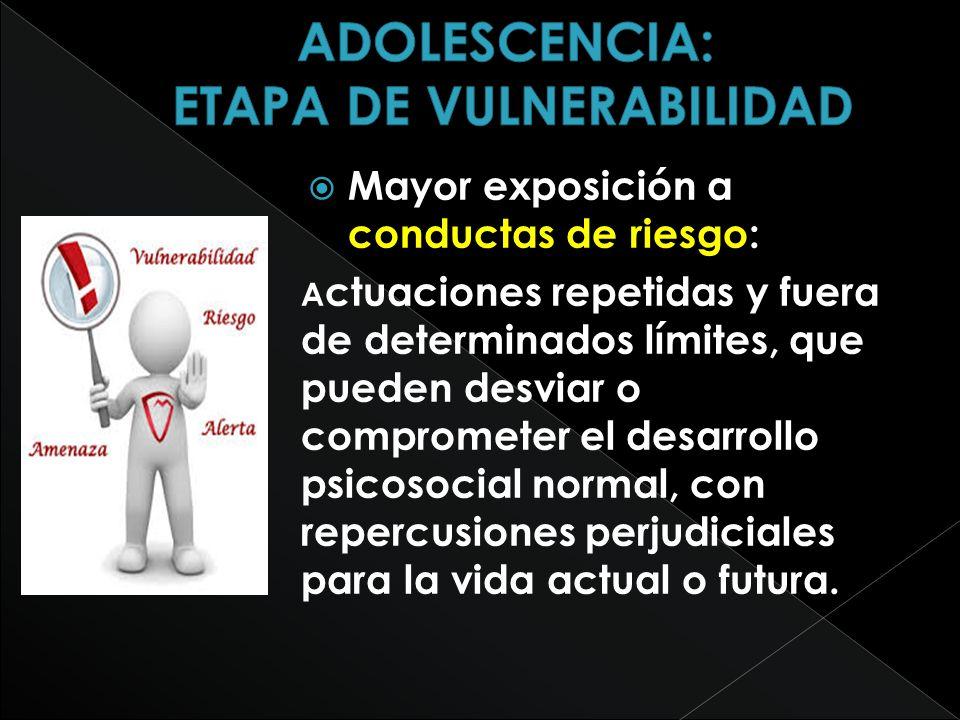 ADOLESCENCIA: ETAPA DE VULNERABILIDAD