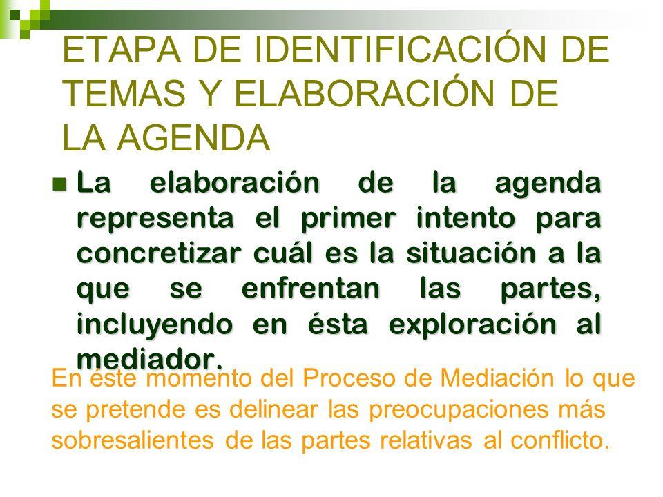 ETAPA DE IDENTIFICACIÓN DE TEMAS Y ELABORACIÓN DE LA AGENDA