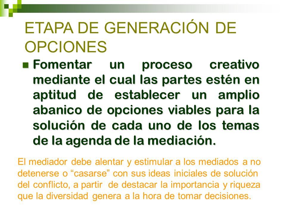 ETAPA DE GENERACIÓN DE OPCIONES
