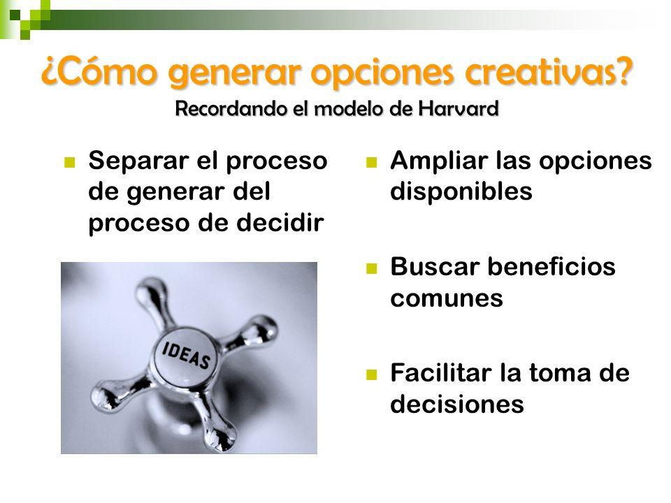 ¿Cómo generar opciones creativas