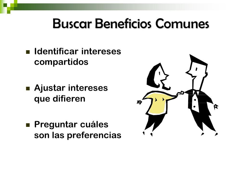 Buscar Beneficios Comunes