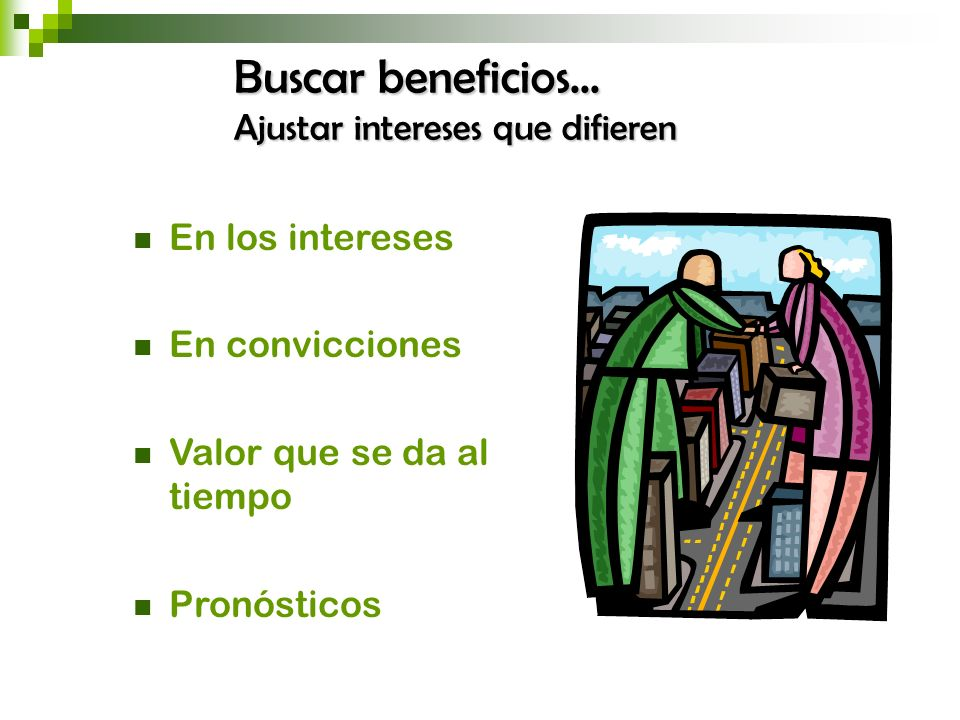 Buscar beneficios... Ajustar intereses que difieren En los intereses