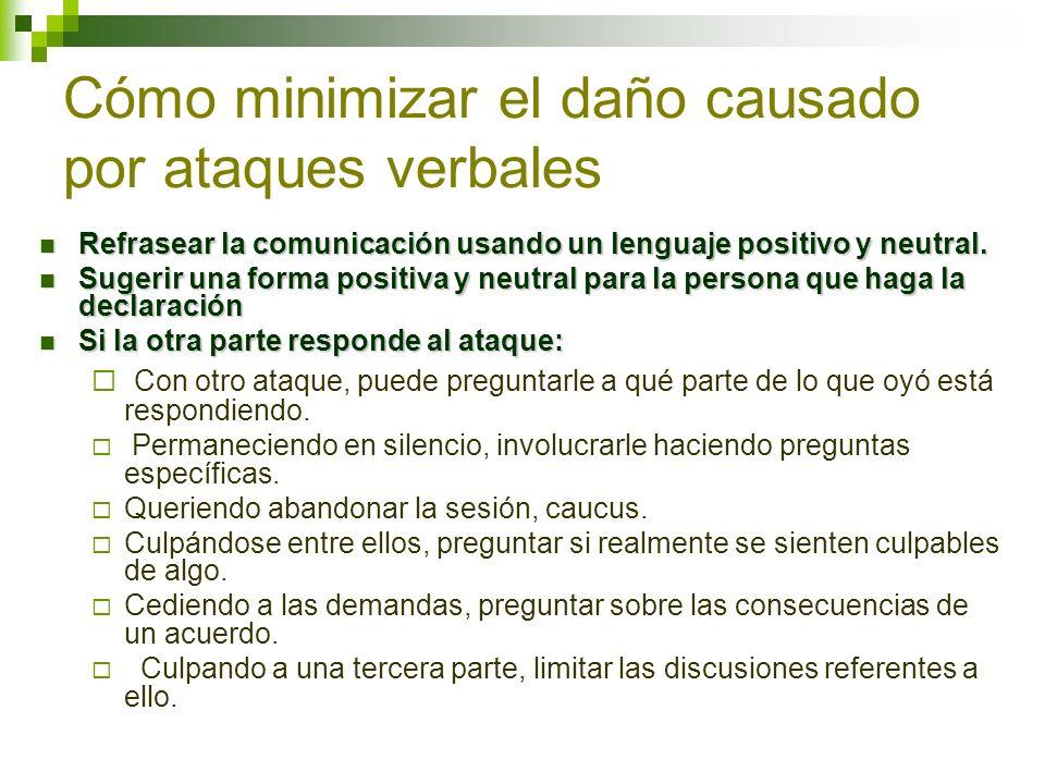 Cómo minimizar el daño causado por ataques verbales