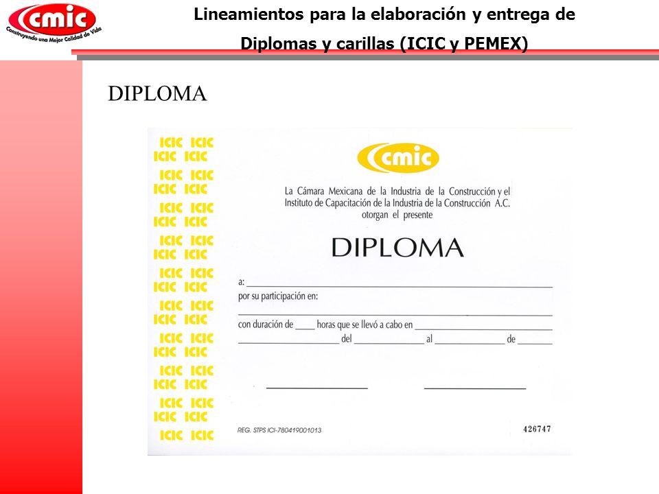 DIPLOMA Lineamientos para la elaboración y entrega de