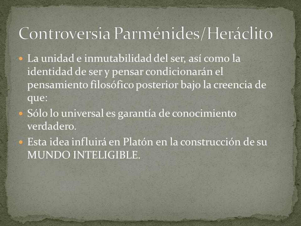 Controversia Parménides/Heráclito