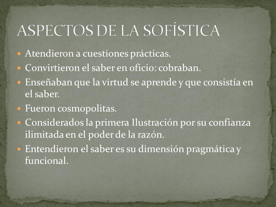 ASPECTOS DE LA SOFÍSTICA