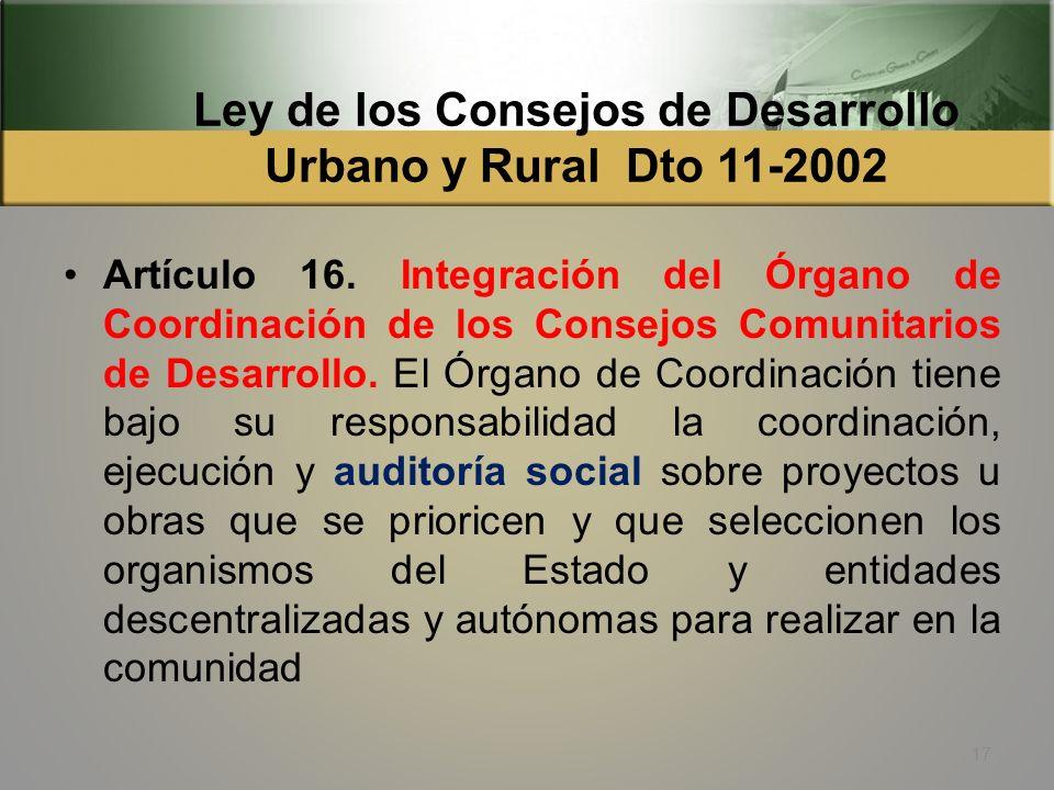 Ley de los Consejos de Desarrollo Urbano y Rural Dto 11-2002