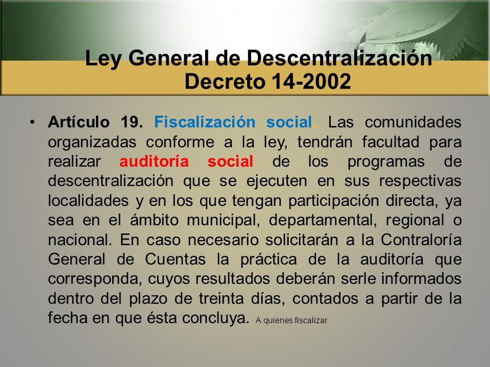 Ley General de Descentralización Decreto 14-2002