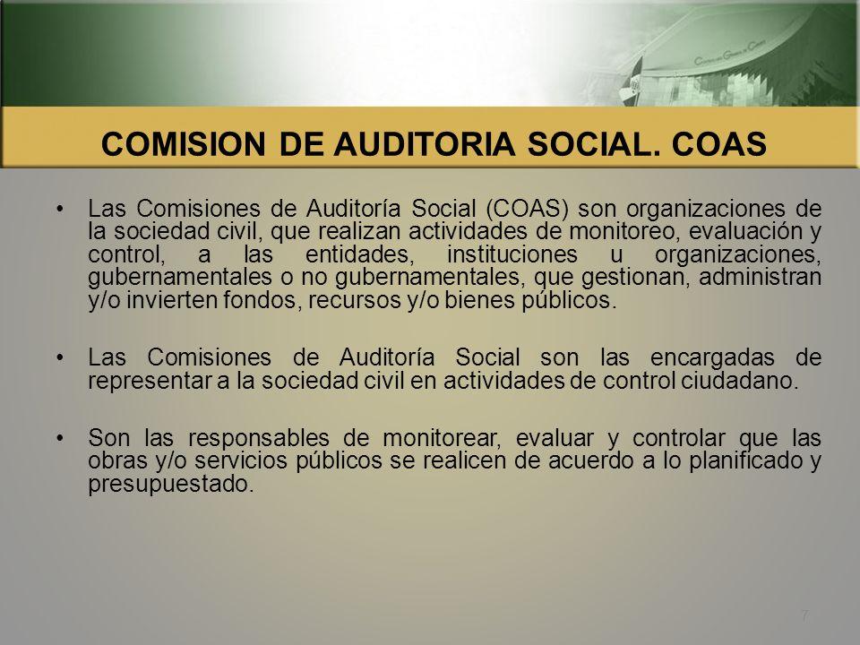 COMISION DE AUDITORIA SOCIAL. COAS