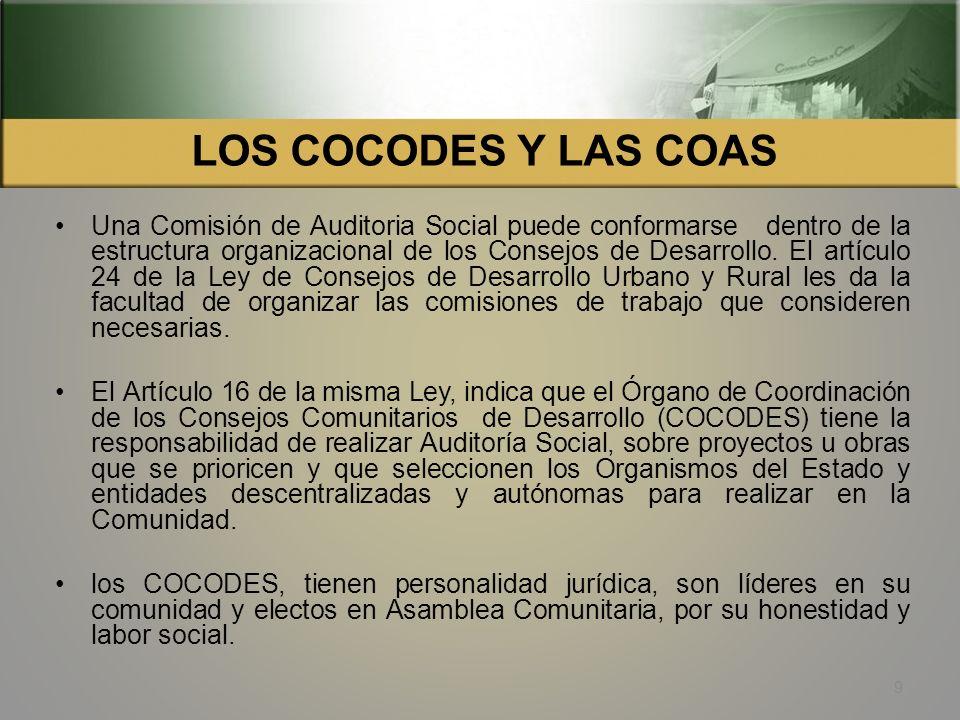 LOS COCODES Y LAS COAS