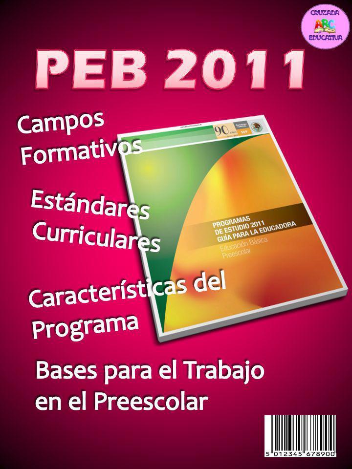 PEB 2011 Campos Formativos Estándares Curriculares Características del