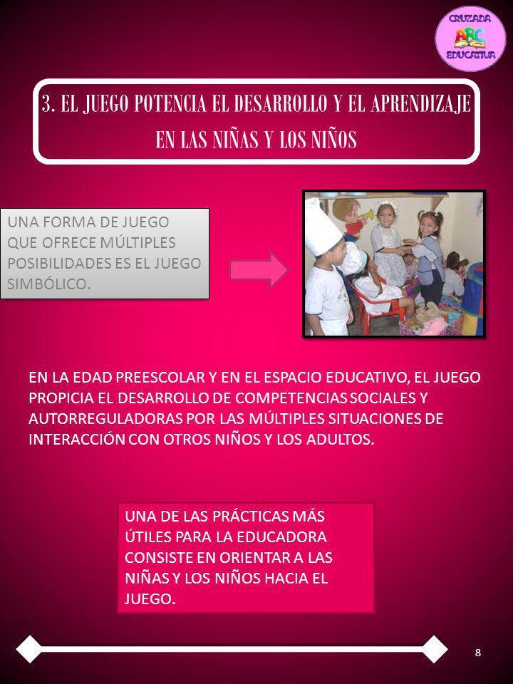 3. EL JUEGO POTENCIA EL DESARROLLO Y EL APRENDIZAJE EN LAS NIÑAS Y LOS NIÑOS.