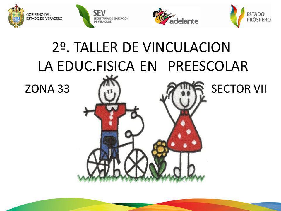 2º. TALLER DE VINCULACION LA EDUC.FISICA EN PREESCOLAR