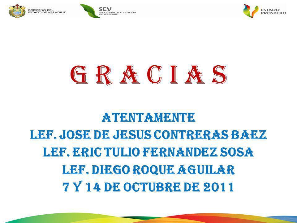 G R A C I A S ATENTAMENTE LEF. JOSE DE JESUS CONTRERAS BAEZ