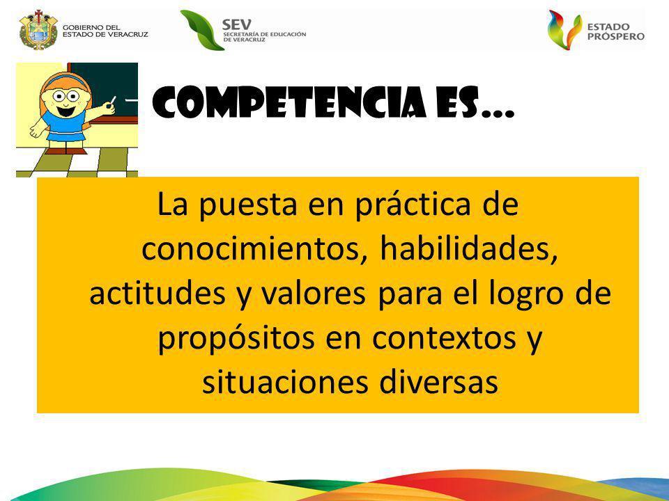 Competencia es…