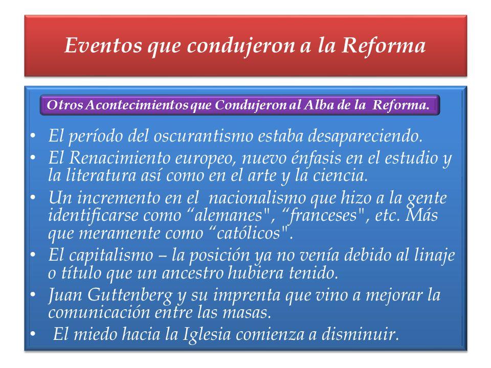 Eventos que condujeron a la Reforma
