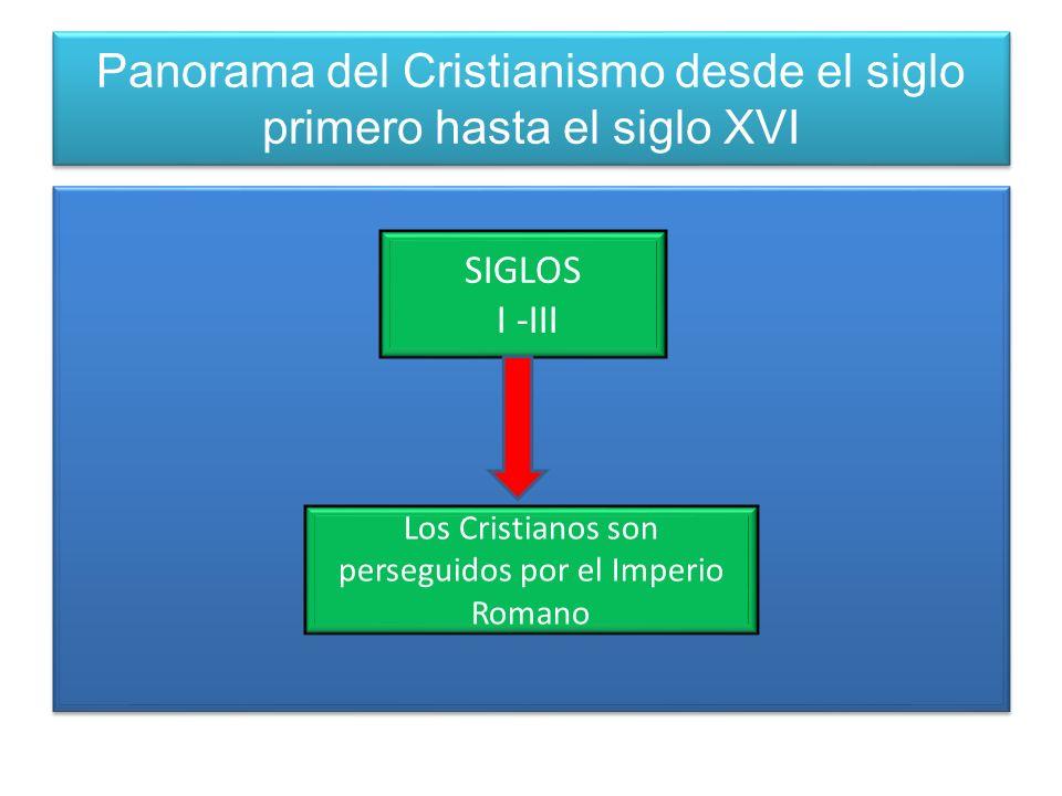 Panorama del Cristianismo desde el siglo primero hasta el siglo XVI