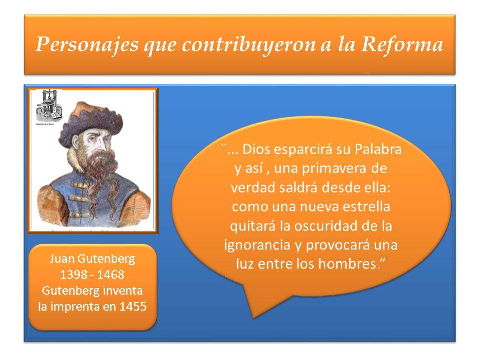 Personajes que contribuyeron a la Reforma