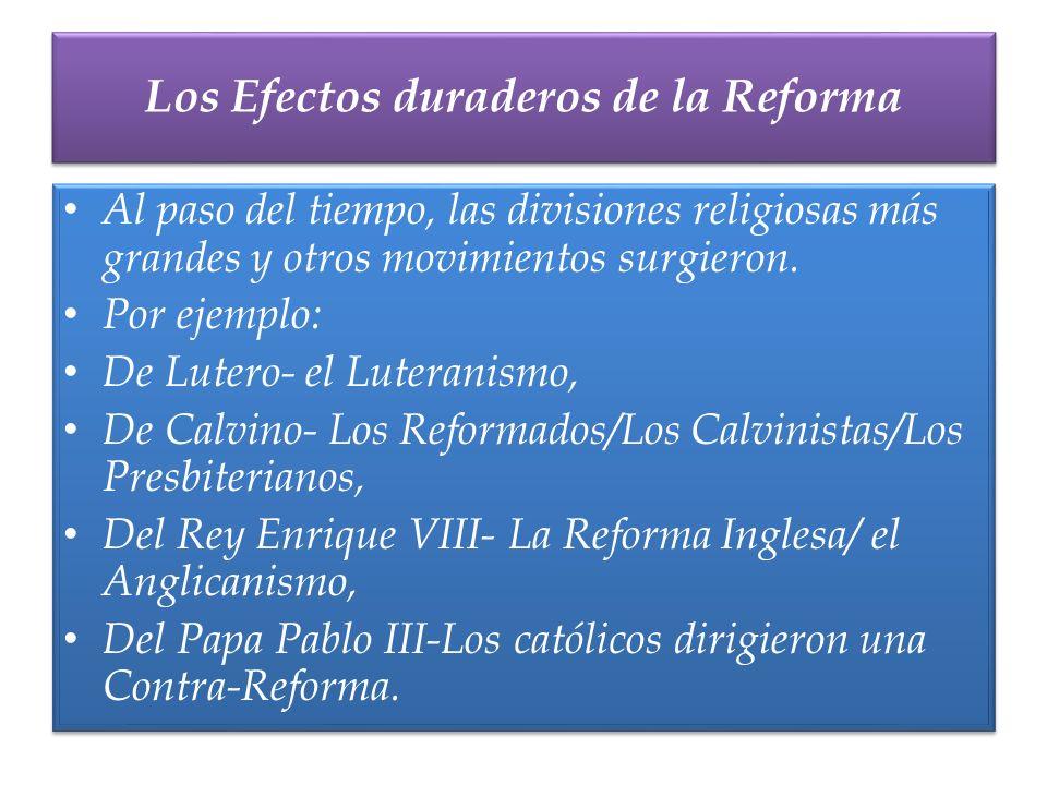 Los Efectos duraderos de la Reforma