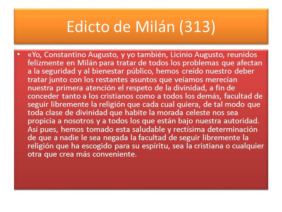 Edicto de Milán (313)