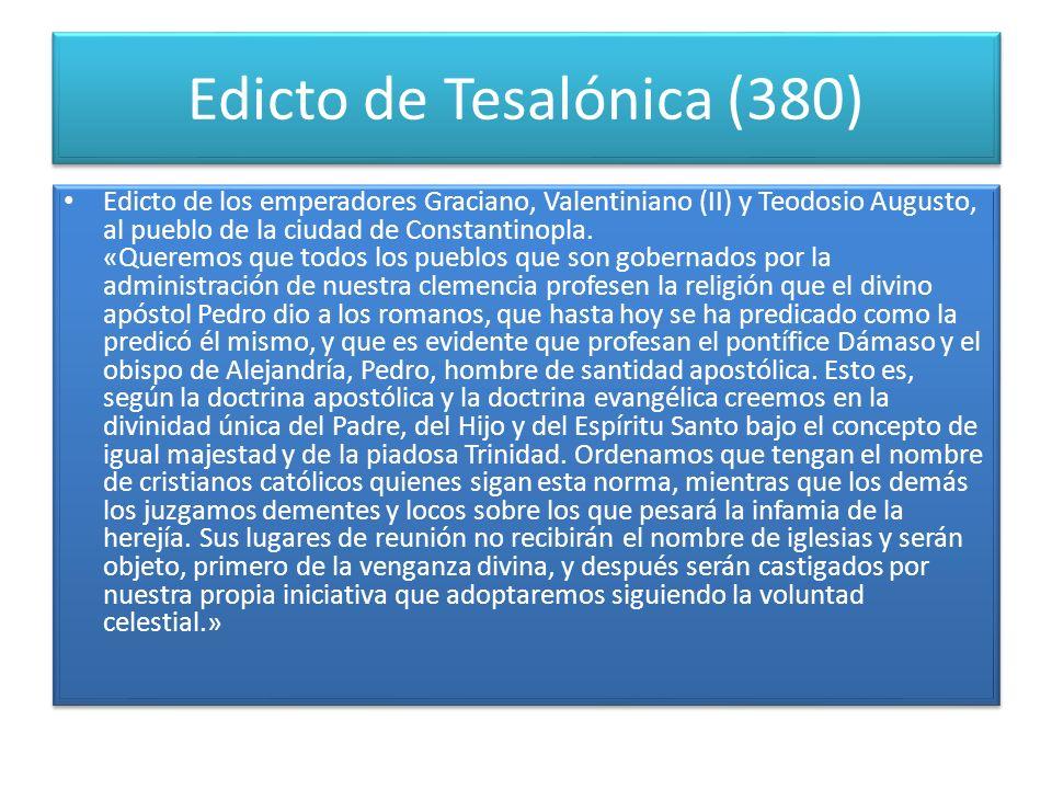 Edicto de Tesalónica (380)
