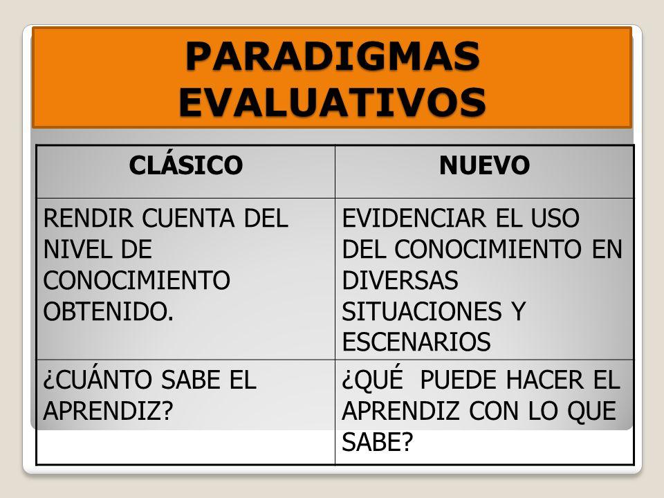 PARADIGMAS EVALUATIVOS