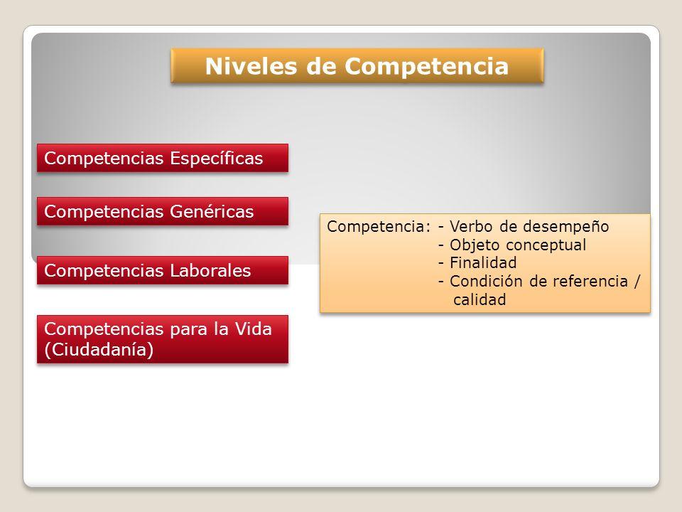 Niveles de Competencia