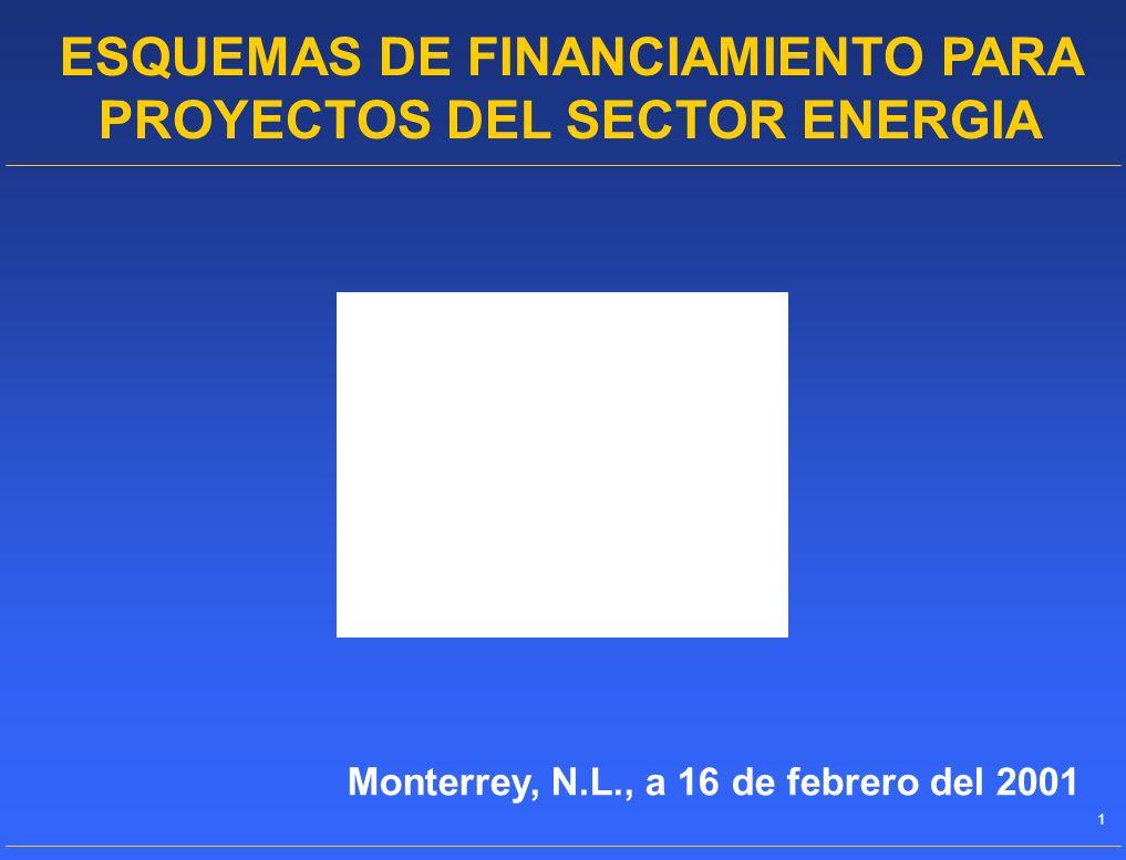 ESQUEMAS DE FINANCIAMIENTO PARA PROYECTOS DEL SECTOR ENERGIA