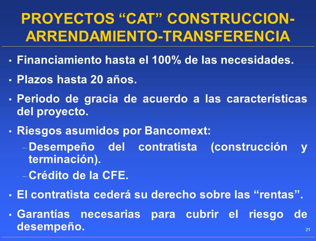 PROYECTOS CAT CONSTRUCCION-ARRENDAMIENTO-TRANSFERENCIA