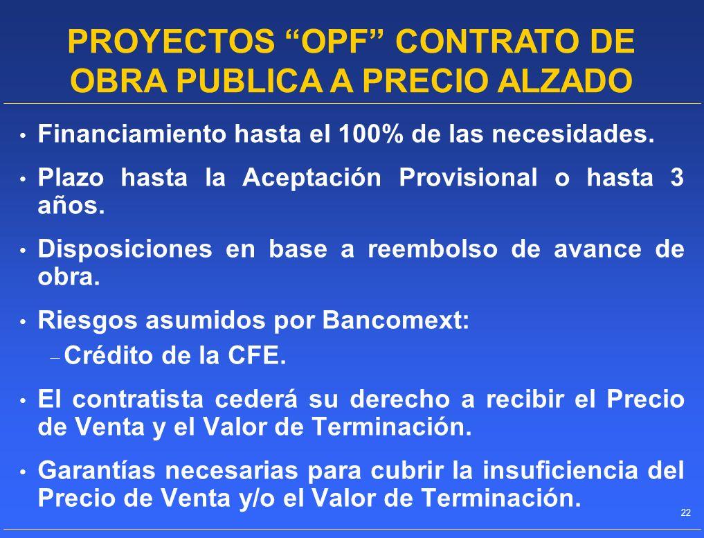 PROYECTOS OPF CONTRATO DE OBRA PUBLICA A PRECIO ALZADO