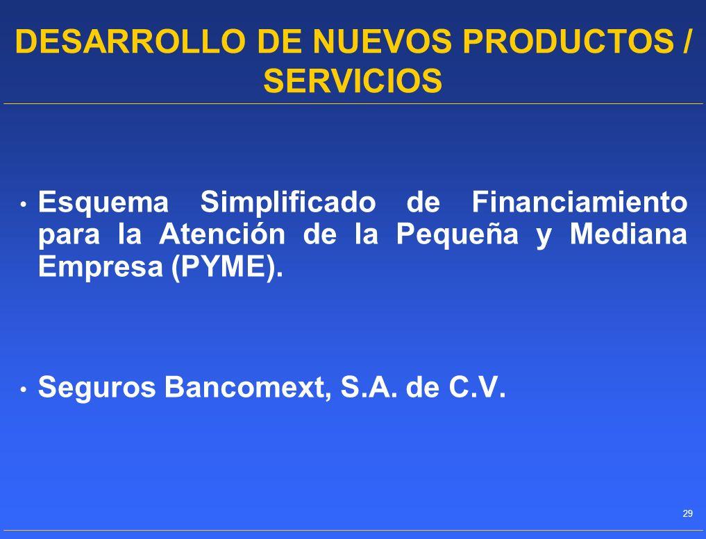 DESARROLLO DE NUEVOS PRODUCTOS / SERVICIOS