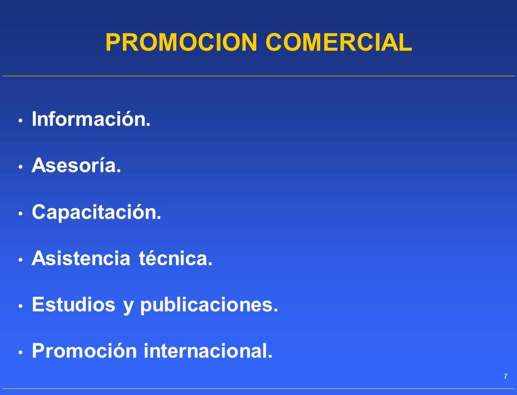 PROMOCION COMERCIAL Información. Asesoría. Capacitación.