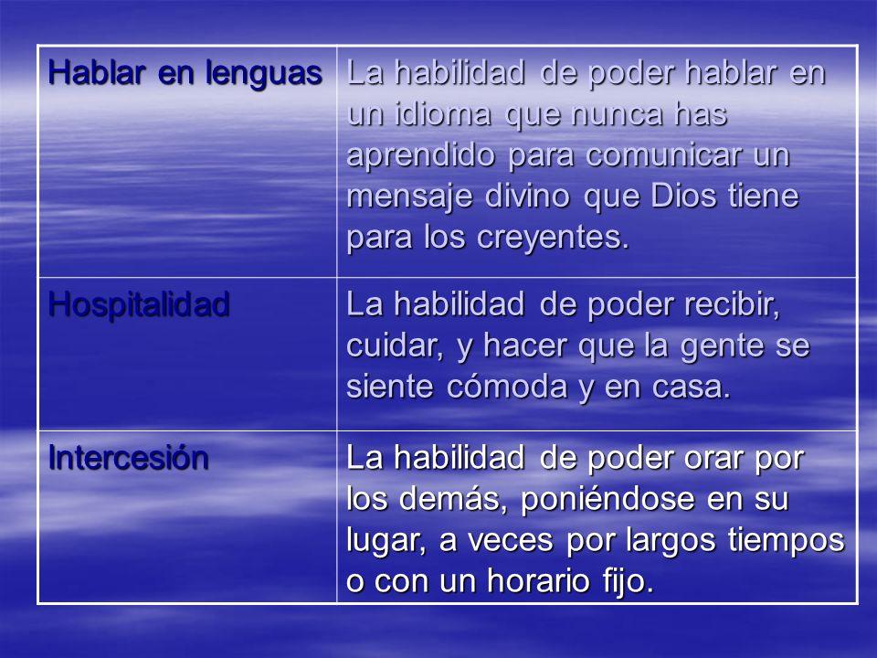 Hablar en lenguas
