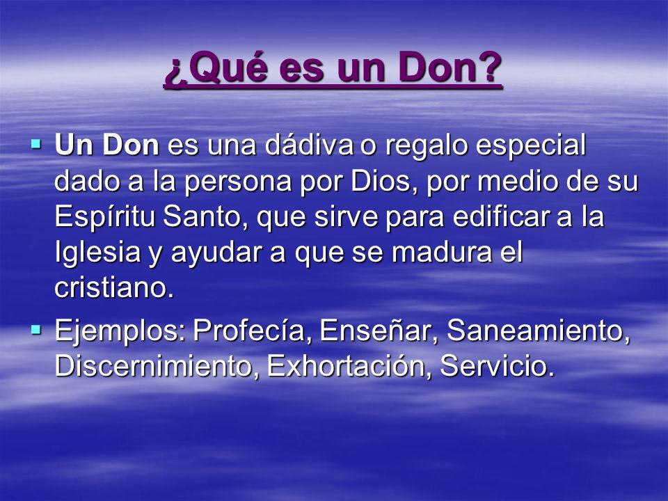 ¿Qué es un Don