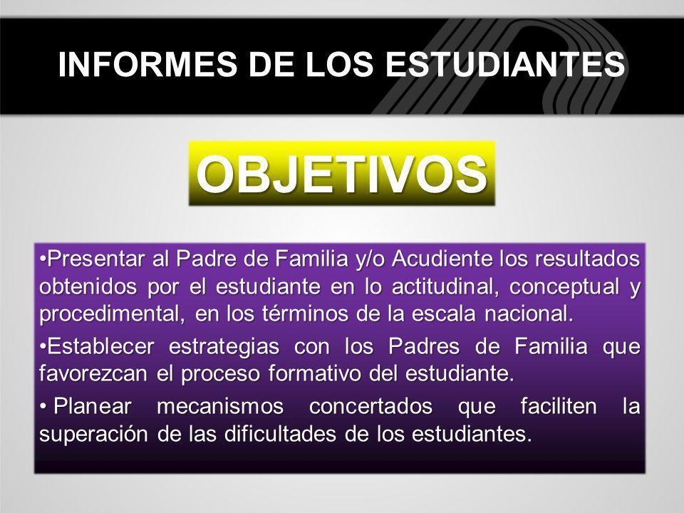 INFORMES DE LOS ESTUDIANTES